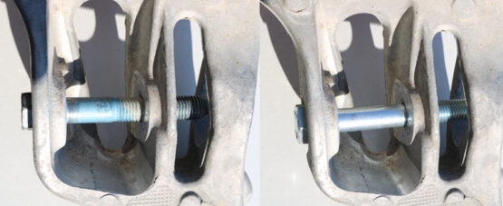 Forged Offroad OE Lower Shock Bolt vs Forged Offroad Lower Shock Bolt 2