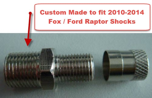 Ford Raptor Shock Custom Schrader Valve Forged Offroad