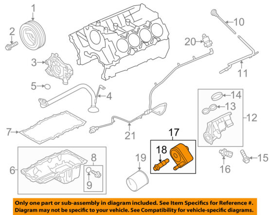 2010-2014 Ford F150 Raptor Oil Cooler kit Forged Offroad 3