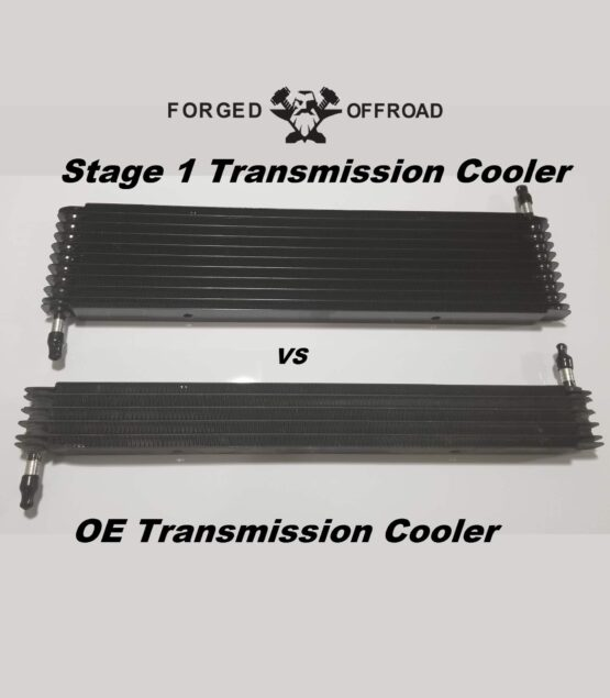 Forged Offroad Stage 1 Transmission Cooler VS the OE Transmission Cooler
