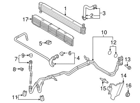 2009-2014 F150 Transmission Cooler Parts